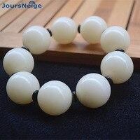 White Natural Bodhi Bracelets male Models Fashion Jewelry Seed Bracelet Accessories Men Bodhi Buddha Bead Hand String JoursNeige