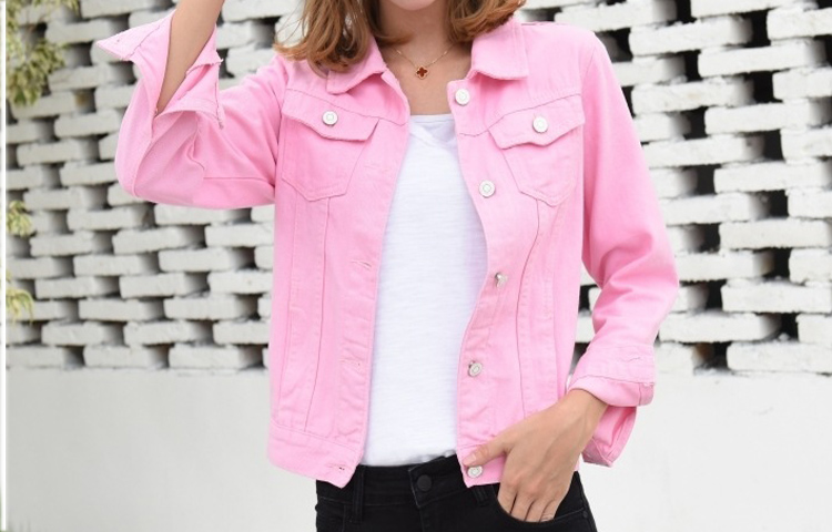 Jeans Jacket and Coats for Women 19 Autumn Candy Color Casual Short Denim Jacket Chaqueta Mujer Casaco Jaqueta Feminina 6