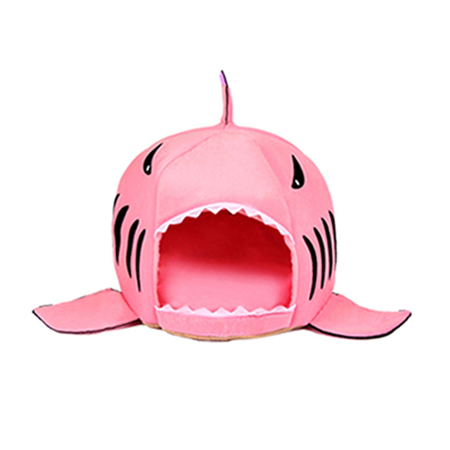 Shark Shaped Dog/Cat Bed House Pink