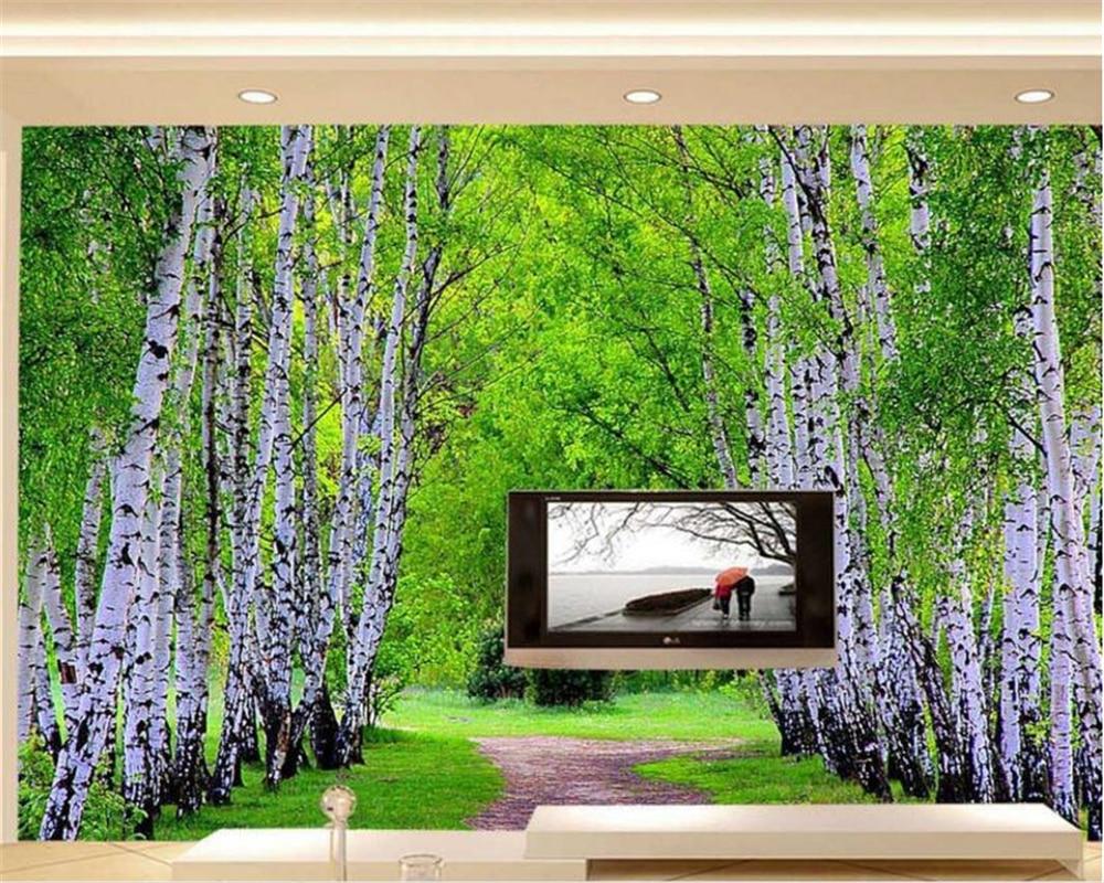 Beibehang Kustom Wallpaper Pemandangan Alam Hutan Avenue Ruang