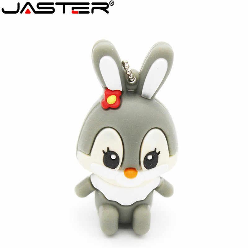 JASTER Adorável coelho usb flash drive GB GB 32 16 8 GB 64 GB pendure decorações flash usb memory stick pen drive para a menina frete grátis