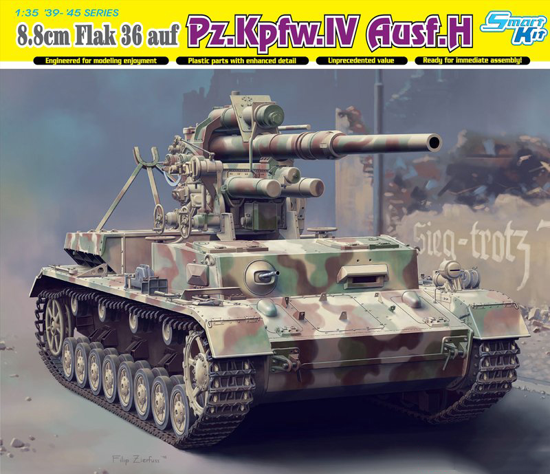 ¡Dragón 6829 escala 1/35 88mm FlaK 36 auf Pz! ¡Kpfw! ¡IV Ausf! kit de construcción de modelo de plástico H-in Kits de construcción de maquetas from Juguetes y pasatiempos    1