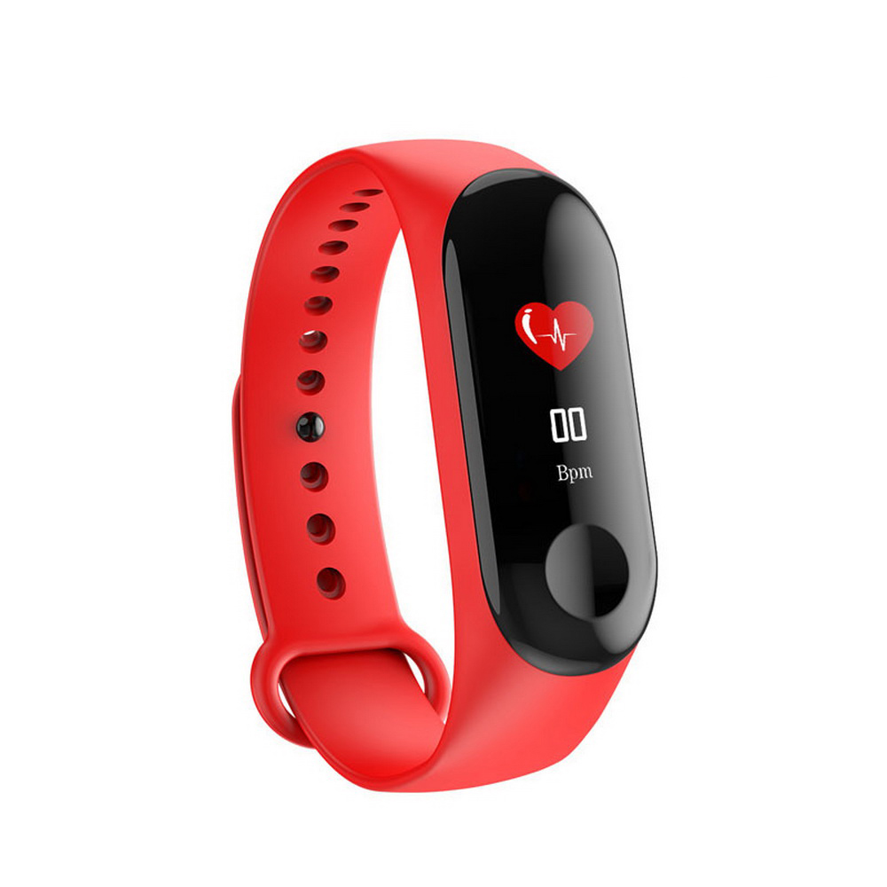 Fitness Smart Bracelet Blood Pressure & Heart Rate Monitor Colorful Touch Screen Smart Band Wristband Step Counter PK Mi Band 3