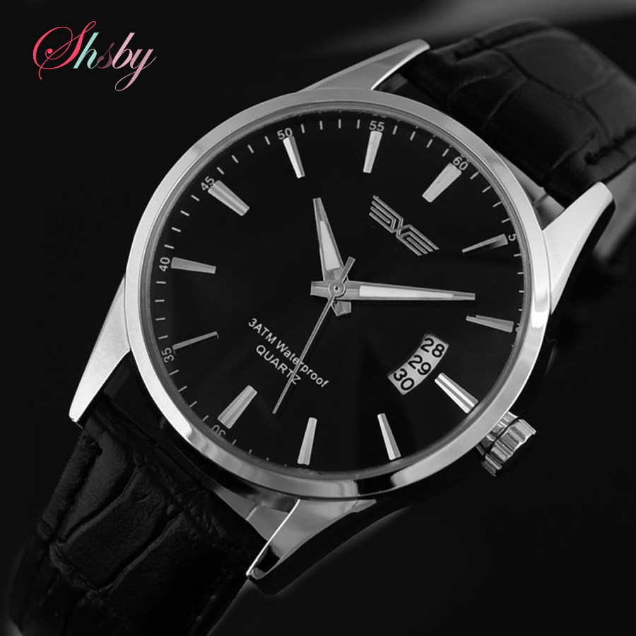 shsby HOT Sell Quartz Business Men s Watches Men s Military Watches Men s Leather Strap