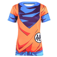 Hot Sale Women 2016 NEW Summer 3D Printed Dragon Ball Z Super Saiyan Vegeta Goku T Shirt Women Tops Short Sleeve Female T-shirts