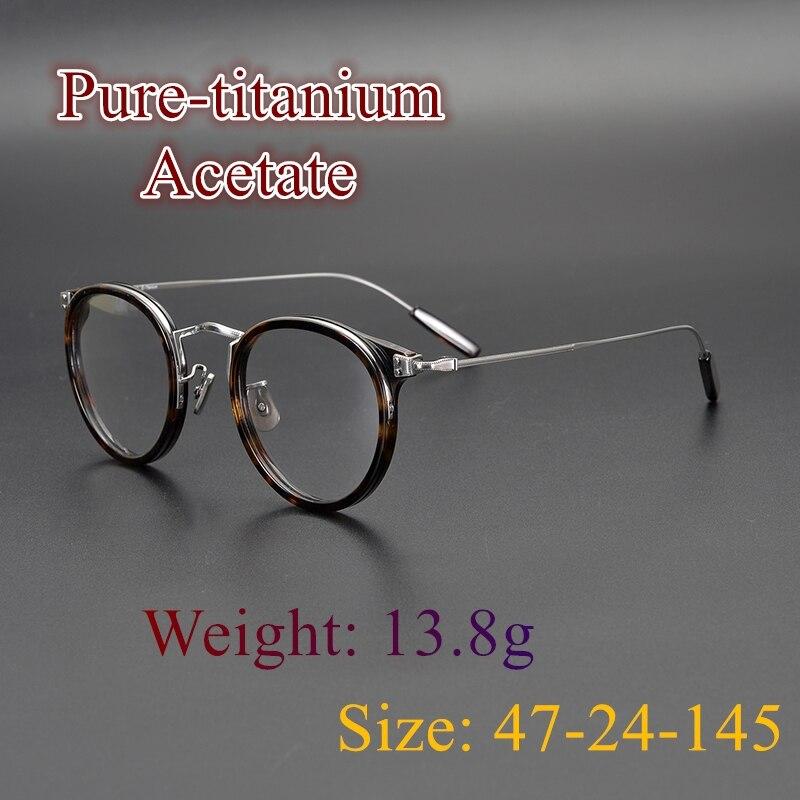 Limited edition Vintage eyeglass Ultralight pure titanium frame EV557 retro round cat eye style eyewear Japan