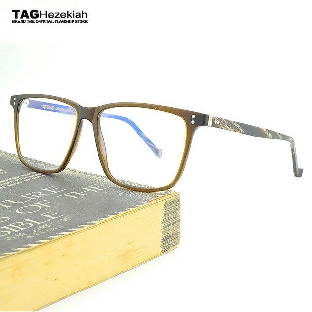 deb84cbb700 2018 glasses frame Retro TAG Hezekiah brand Big box eye glasses frame  eyewear glasses computer anti radiation myopia glasses