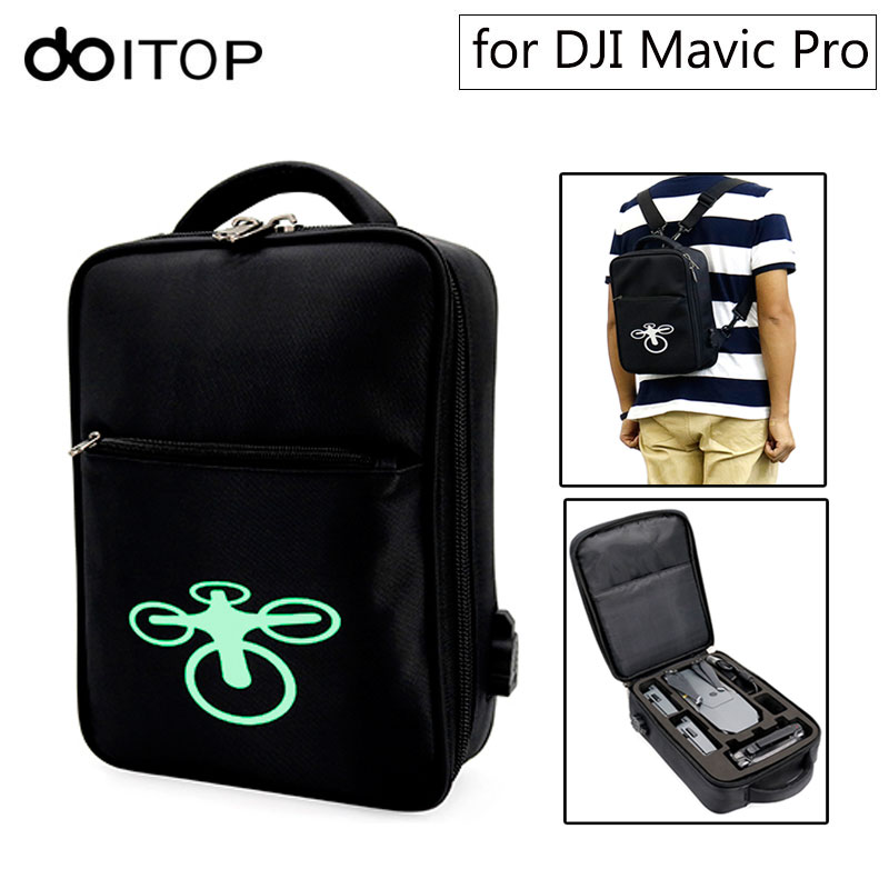 DOITOP For DJI Mavic Pro Backpack Bag Storage Case Waterproof Anti-Shock Outdoor Carry Shoulder Bag for Mavic Pro & Accessories remote controller transmitter storage box for dji spark mavic pro