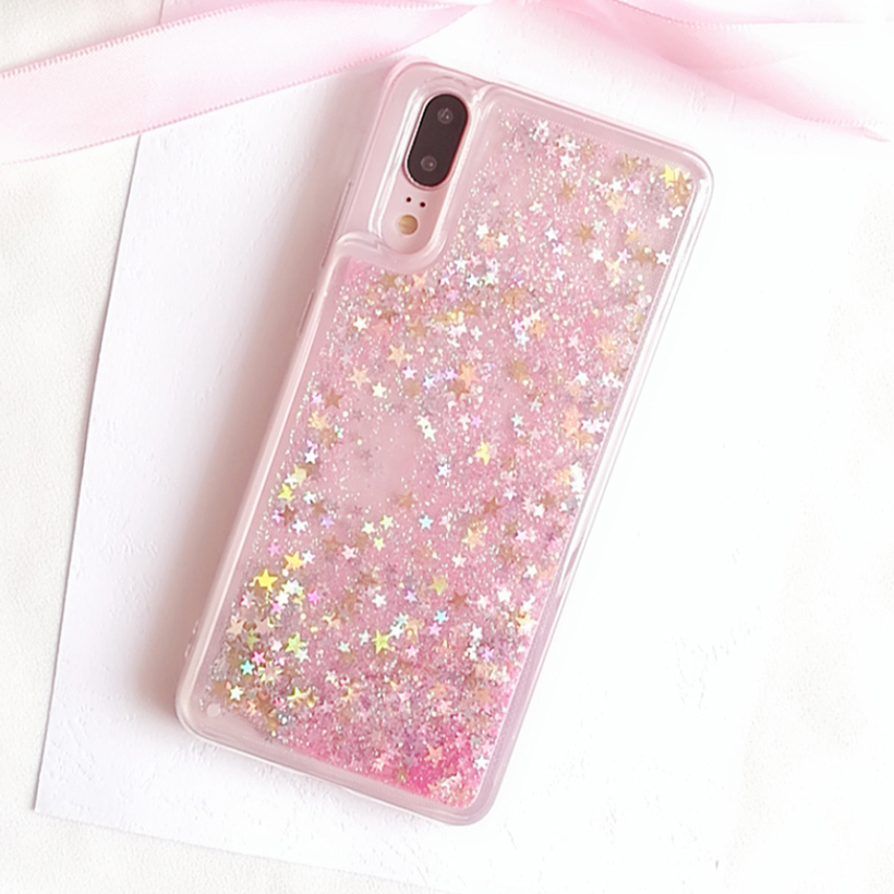 Soaptree Soft Tpu Phone Case Cover For Huawei P8 Lite 2017 Covers For P9 Lite 2017 Glitter Liquid Dynamic Sand Back Cases Fundas Phone Bags & Cases Cellphones & Telecommunications