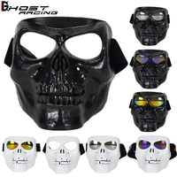 GHOST RACING Motocross goggles Motorcycle Glasses Motorbike Moto Goggles Detachable Protection Ski Bike Open Face Helmet Mask