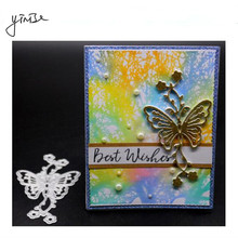 YINISE Metal Cutting Dies For Scrapbooking Stencils Butterfly SCRAPBOOK CUT DIY Album Cards Decoration Embossing Folder Die Cuts yinise 068 horse dog scrapbook metal cutting dies for scrapbooking stencils diy album cards decoration embossing folder die cuts