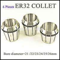 6pcs ER 32 ER32 Spring Collet Clamping Tool Collets Drill Chuck Arbors For CNC Milling Lathe