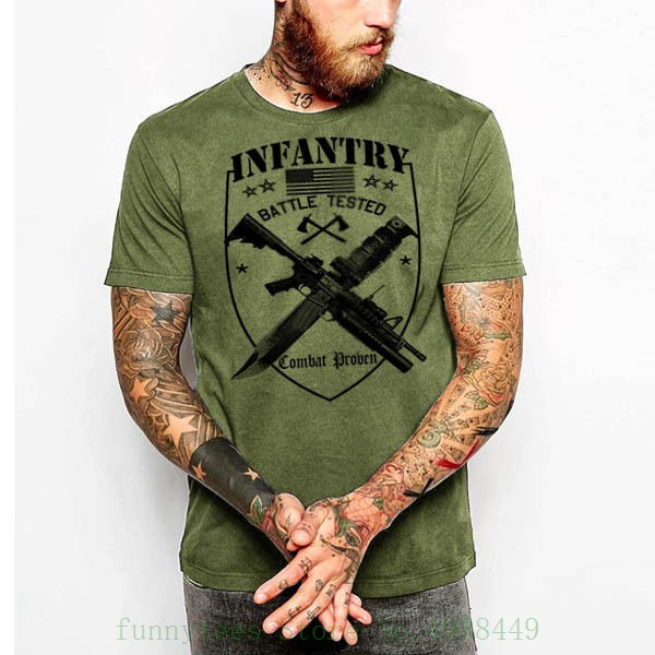 Military T Shirt Army Navy Marines Machine Gunner Sniper Paratrooper Veteran Funny Tee Shirt Hipster Summer