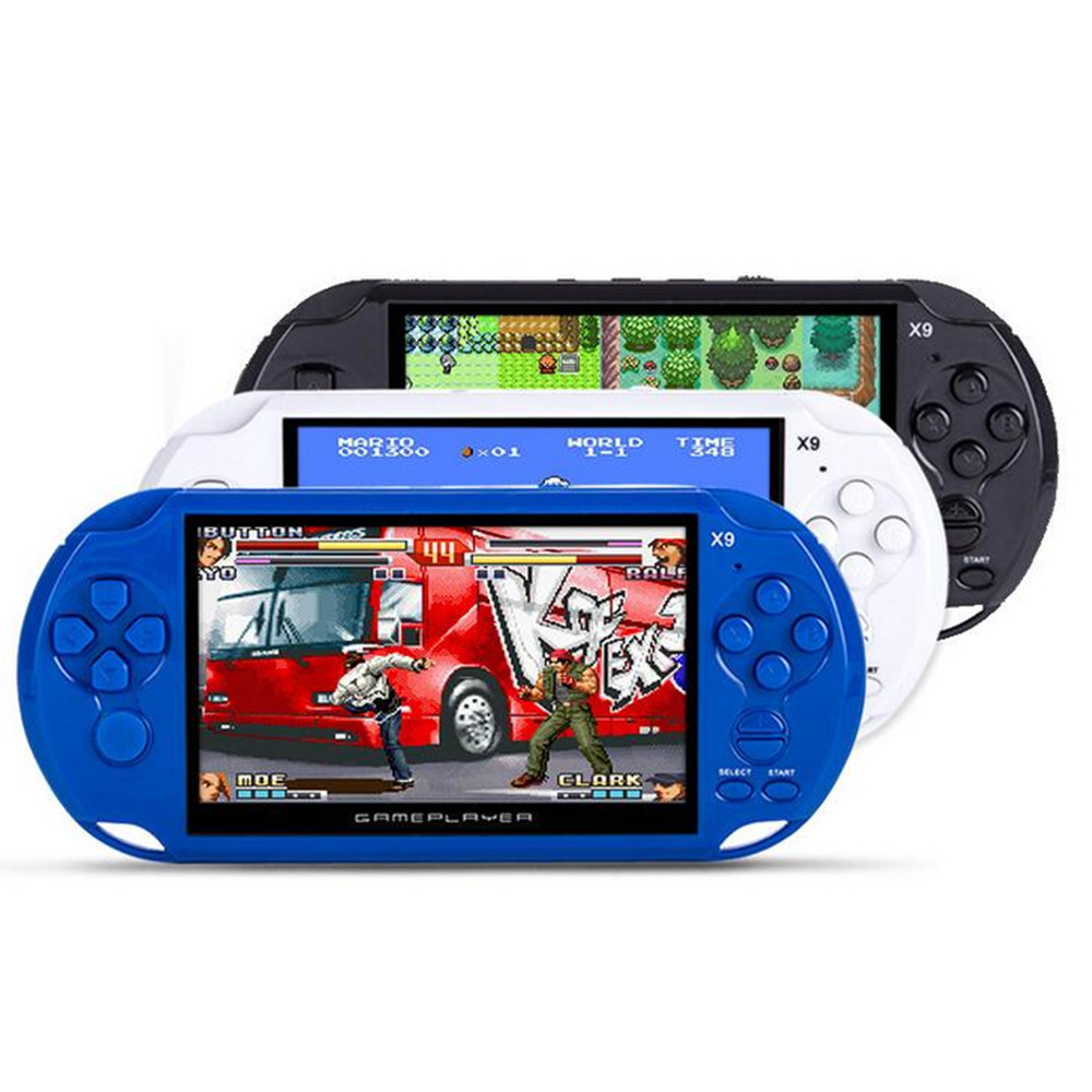 5 inch Portable Handheld Game Console for GBA NES Games MP4 Player X9 Game Player with Camera TV Out TF Video Free Download