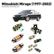 Led interior lights For mitsubishi mirage 1997-2002  6pc Led Lights For Cars lighting kit automotive bulbs Canbus цена в Москве и Питере
