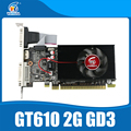 nVIDIA chipset Geforce video graphics card GT610 2GB DDR3 810/1200MHz for normal PC and small PC