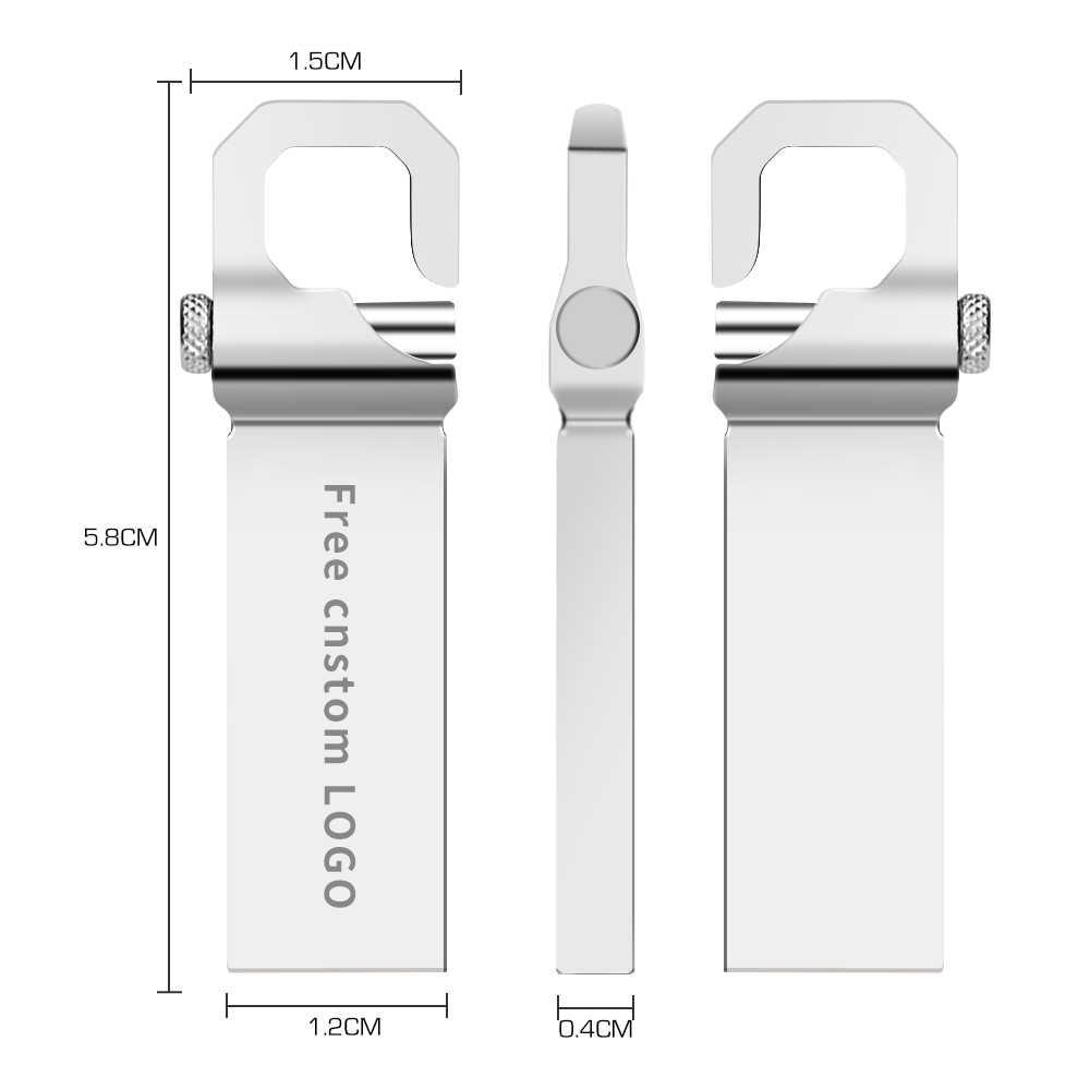 Nowy USB flash napęd 32 GB pamięci flash 3.0 wysokiej prędkości pen drive 4 gb 8 gb 16 gb 64 gb 128 gb pendrive metal bransoletka kij darmowa logo