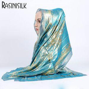 Image 1 - 1pc Retro Mulheres Hijab 100% Jacquard de Seda Cachecol Senhoras Longo Xailes Wraps Pashmina Bufandas Bandana Muçulmano Islã Sjaal 55*165 CENTÍMETROS