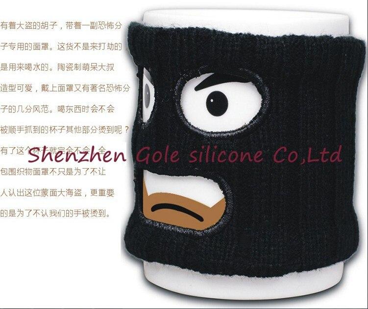 48pcs/lot Mugga Mug Criminal Coffee Mug with Cup Warmer Mask Novelty Christmas and Birthday Gift New Year Mug Gift