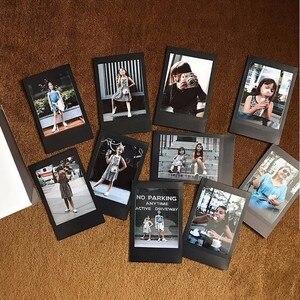 Image 4 - Новинка 2017 года поступление Подлинная Fujifilm Instax Mini черный границы Плёнки 10 Простыни детские для Mini. 8 плюс 70 90 25 50 s Камера поделиться SP 1 SP 2