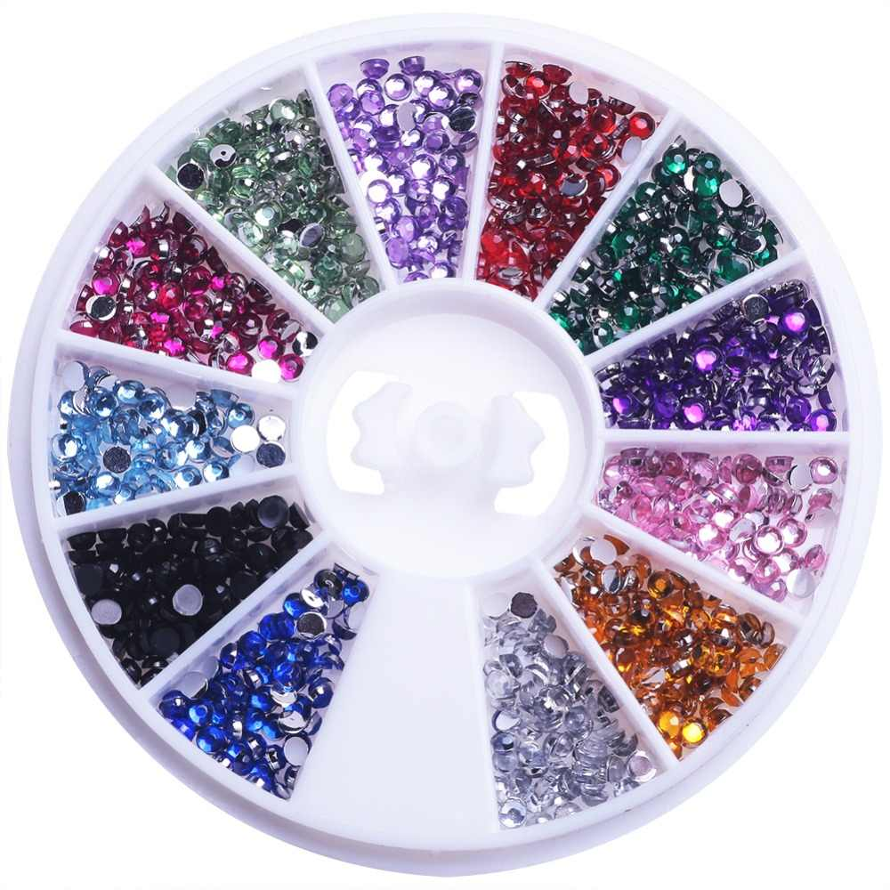 Mixed Color Nail Rhinestone Glitter Irregular Beads For Manicure Nail Art 3D Decoration Stone In Wheel DIY Accessories Tips