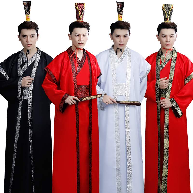 Chinese Ancient Clothing, Tang Scholar's Costume, men's cosplay costume han dynasty minister robe three kingdoms offical clothes