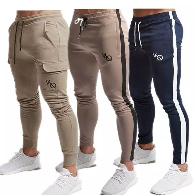 Self-Conscious Men Vq Joggers 2019 New Casual Pants Men Brand Clothing High Quality Spring Long Red Pants Elastic Male Trousers Mens Joggers