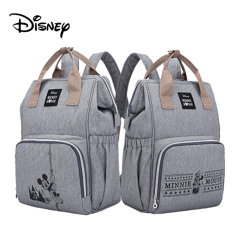 8 Colors Disney Diaper Bag Mummy Nappy Bag Multi-function Large Capacity Waterproof Backpack For Mom Baby Care Travel Backpack