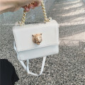 Vintage Style trunk case Women shoulder bag hand bag Purse with gold lion embellishment
