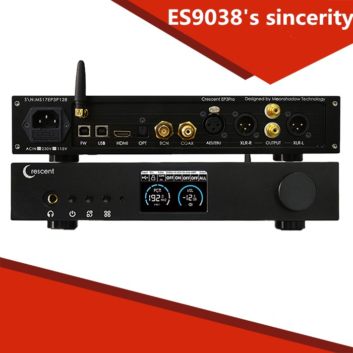 ES9038Pro DAC HiFi DSD XMOS amplifier decoding machine Bluetooth full balanced decoder smsl sanskrit pro 32bit 384khz dsd no bluetooth 4 0 usb coaxial optial dac asynchronous professional decoder dsd hard solution