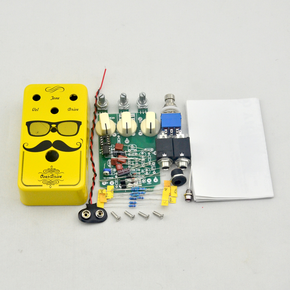 Diy Distortion Guitar Effect Pedal Kits And 1590b Pre-drilled Enclosure Golden Fixing Prices According To Quality Of Products Sports & Entertainment
