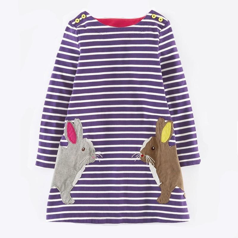 Frühling Herbst Baby Mädchen Kleid, Applique Stickerei Langarm - Kinderkleidung