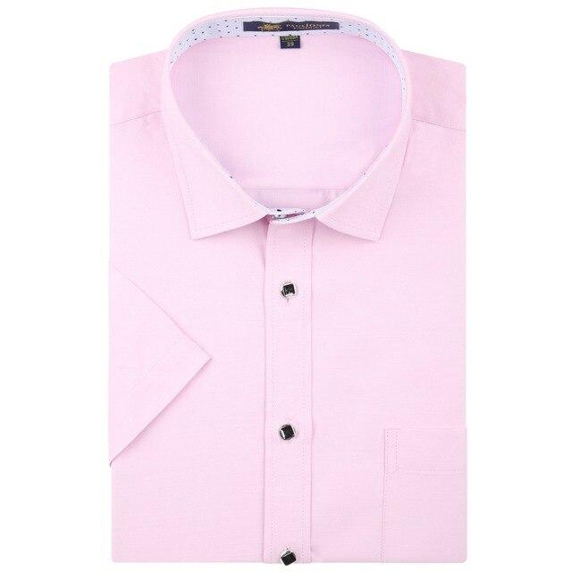 2016 Moda Coreano de Alta Qualidade Homens Camisas De Linho de Manga Curta Vestido de Business Casual Camisas Slim fit Homem De Luxo de Verão