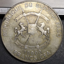 10,000 франков КФА буркиниса Киа ПОПР Джон XXIII Серебряная монета