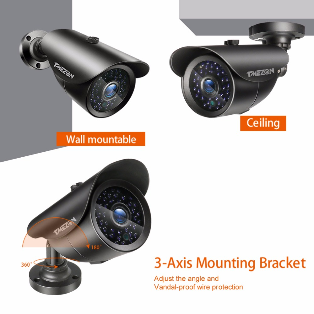 Kamera TMEZON AHD 1080P 2.0MP CCTV s vysokým rozlišením IR LED - Zabezpečení a ochrana - Fotografie 3