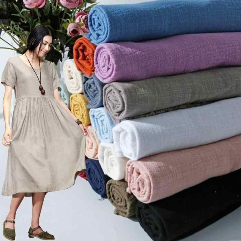 30 х 100 см летний льняной тканью из хлопка и льна ткань для штор мягкие Craft пэчворк ткань мягкая удобная