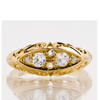 Vintage Yellow Gold Plated Wedding Rings Sterling 925 Silver Engagement Ring Birthstone Ring Promise Ring Diamond