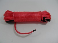 Red 6mm*30m Synthetic Rope for Offroad Parts,Amraid Kevlar Fiber Winch Cable,Towing Rope for Auto Parts