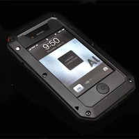 RJ Waterproof Case For IPhone4 4S Shockproof Fundas For Apple IPhone 4 4G 4S Aluminum Cover