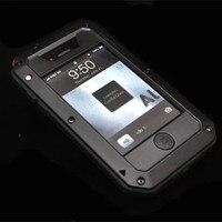 Rj wodoodporna skrzynka dla iphone4 4s, odporna na wstrząsy fundas dla apple iphone 4s 4 4g aluminium pokrywa coque dropproof