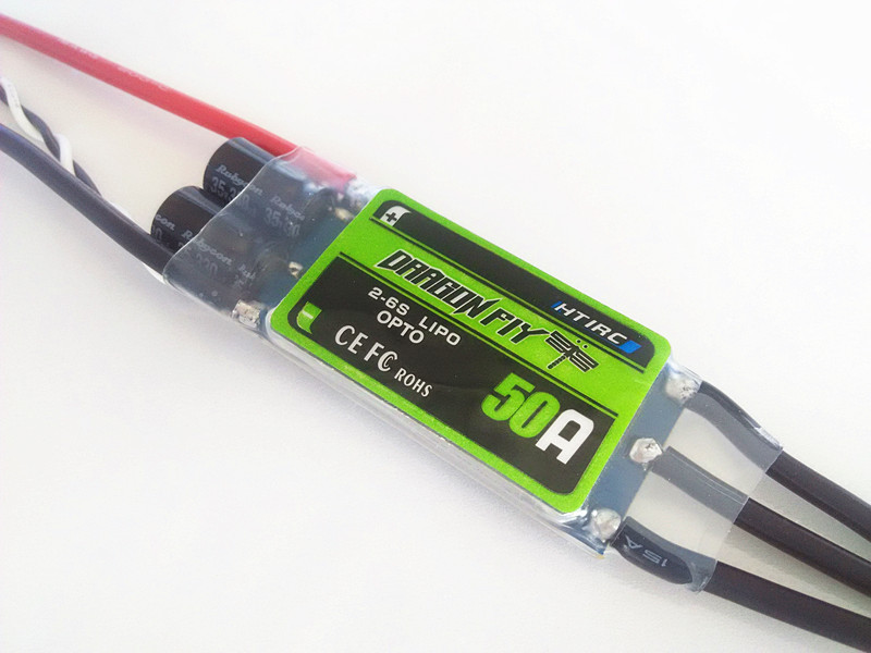 ФОТО htirc dragonfly high quality 50A Brushless ESC OPTO 2-6S lipo no BEC long version for DIY fpv drones T680/T810/S800/S900/S1000