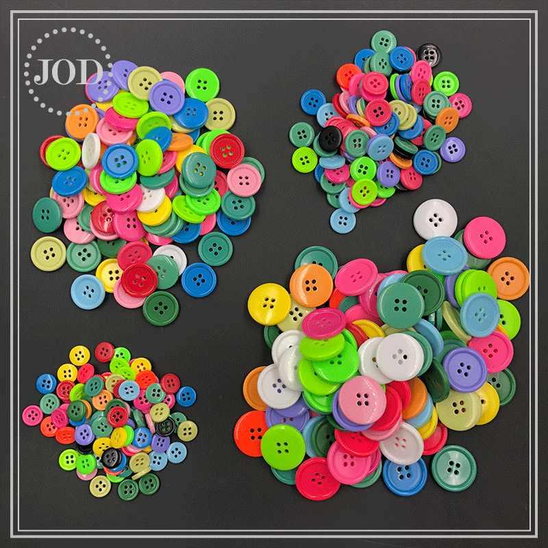 100 Buah Tombol Berwarna-warni untuk Pakaian Kerajinan DIY Dekorasi Mantel Tombol Warna Pakaian 11 Mm 15 Mm 20 Mm 25 Mm Scrapbooking