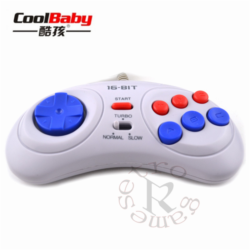 Video Games Gamepads Fashion Style 100pcs Game Controller For Sega Genesis For 16 Bit Handle Controller 6 Button Gamepad For Sega Md Game Accessories Rapid Heat Dissipation