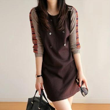 2016 New Fashion Women Winter Dress O neck Long Sleeve Knitted Sweater Dress Slim Sexy Dress Women Sweaters and Pullovers
