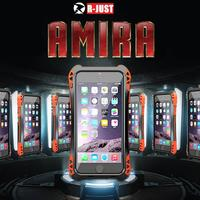 Luxury Waterproof Shockproof Metal Aluminum Armor Hard Case For iPhone 5 5s SE Cover Cases with Tempered Glass