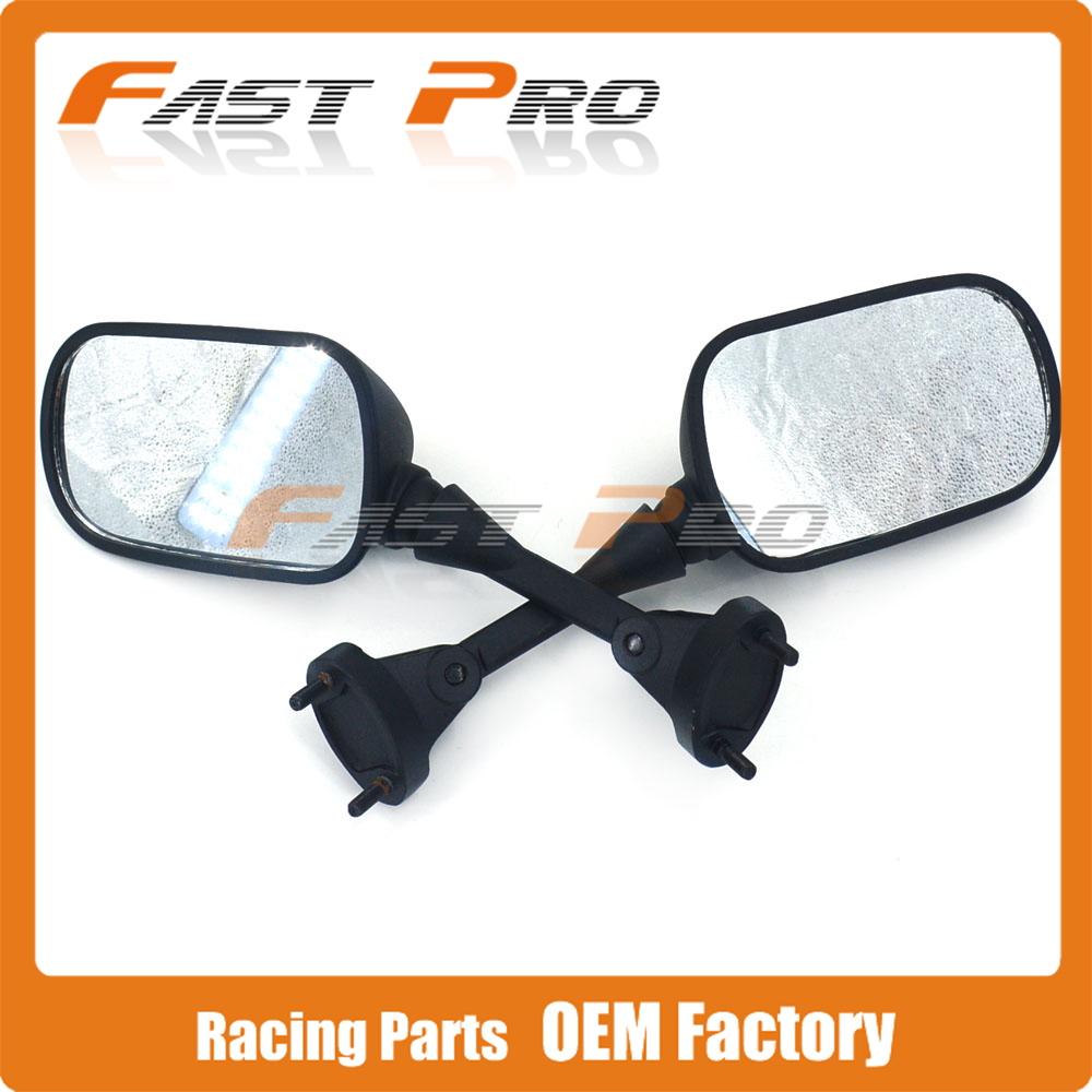 Motorcycle Side Rearview Rear view Mirror Carbon Fiber Color For KAWASAKI NINJA ZX6R ZX6RR ZX636 05 08 ZX10R 04 10
