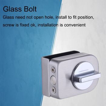 Glass Door Latches Lock/bolt ,stainless steel,Without drilling,Easy installation for Double Door,Bathroom Frameless Glass Door stainless steel u bracket for bolt lock electric lock u bracket for frameless glass door lock