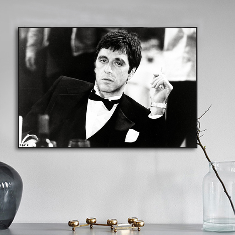Gangster Movie Tony Montana Faceless Man Canvas Prints Picture Modular Paintings For Living Room Poster On The Wall Home Decor image