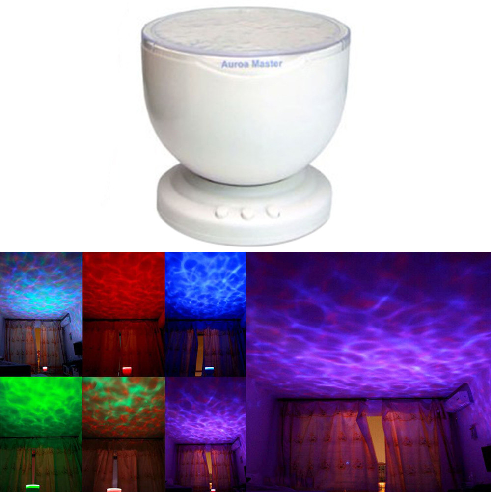 Spirited 2018 High Quality 12 Led Mp3 Phone Speaker Multicolor Ocean Wave Light Projector Led Night Light Drop Shipping Stage Lighting Effect
