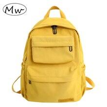Waterproof Backpack for Women Fashion Nylon Yellow Travel Backpacks Female Large Capacity School Bag for Teenage Girls Mochilas